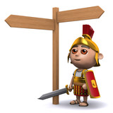 3d Roman soldier wonders where the roads lead to...
