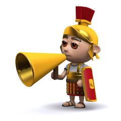 3d Roman soldier hails the crowd