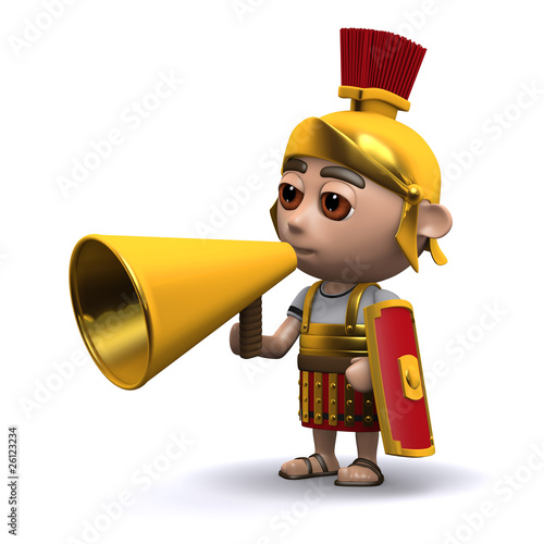 3d Roman soldier hails the crowd