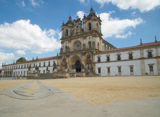 view of Alcobaca Monastery in Portugal