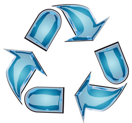 riciclo vetro blu