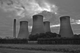 Power station in black and white