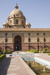 Indian Government buildings. Raj Path, New Delhi, India.