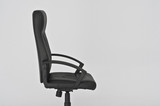 black leather office seat