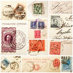 francobolli vintage collage
