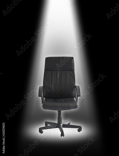 chair under spotlight