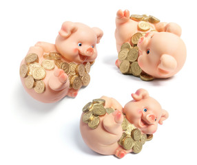 Piggybanks with Coins