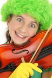 Portrait sourire adolescente humour poster