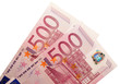 Two five hundred euro banknotes
