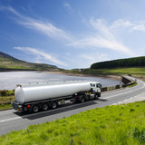 Fototapeta A Big Fuel Tanker Truck