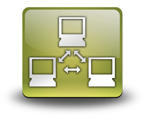 "Yellow 3D Effect Icon ""Network"""