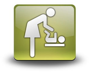 "Yellow 3D Effect Icon ""Baby Change"""