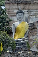 Buddha in Wat Yai Chai Mongklon , Ayuttaya.