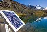 Fototapety Solar technology in the alps