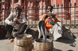 India. Rajasthan, Jaipur, Winds Palace, snake charmers