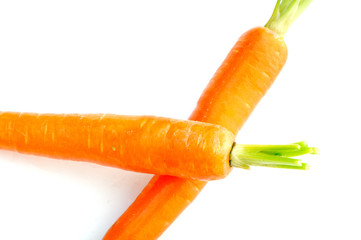 bright carrot on white