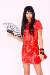 Traditonal red chinese dress