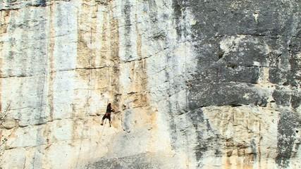 Rock Climbing.Time Lapse