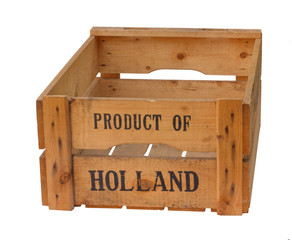Empty Product of Holland crate