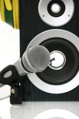 Mikrofon mit Box