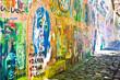 Muro de John Lennon (Praga) - Vista Lateral (Toma 2)