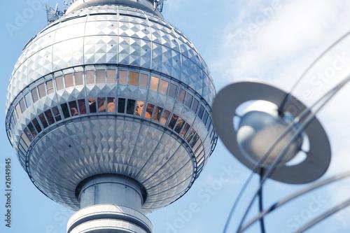 Aluminium Berlijn Fernsehturm und Weltzeituhr