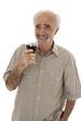 Elderly man socialising