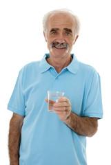 Senior maintaining healthy living