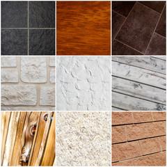 collage materiali architettura