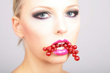 Beauty delicious lips