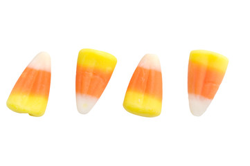 Halloween Candy Corn Isolated on White