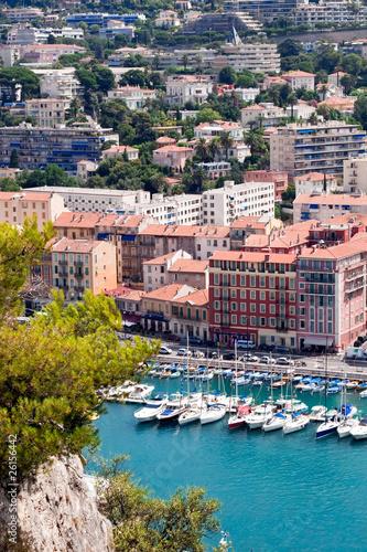 Vue aérienne du port du vieux Nice