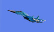 Plane model isolated on the blue background