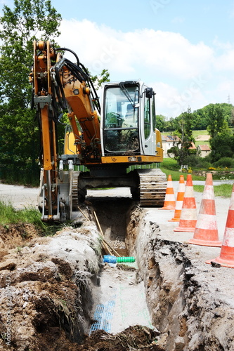 Laying a Trench for Domestic Utilities