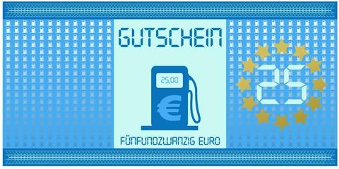 Tankgutschein 25 Euro