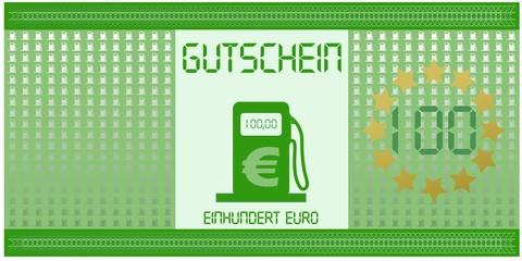 Tankgutschein 100 Euro
