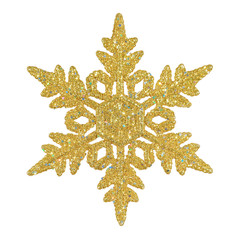 Weihnachtliche Schneeflocke in gold