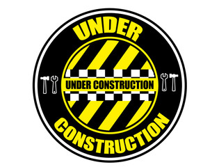 under construction label