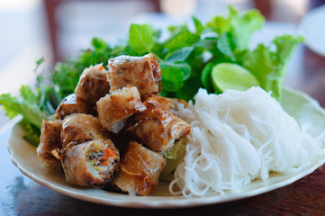 Laos stye spring roll