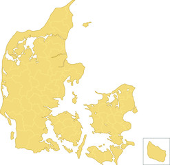 Map Denmark Simple