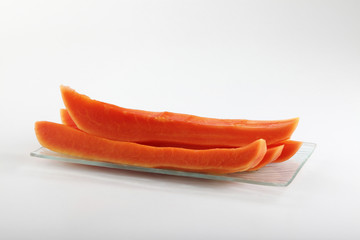 slices of papaya