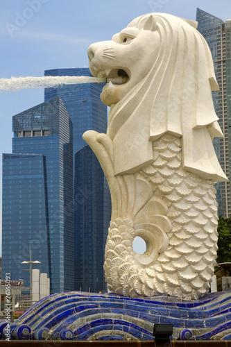 Plexiglas Singapore Merlion Statue by Singapore River