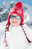 Little girl on winter vacation poster