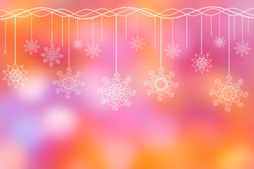 holiday ornament on the lilac-pink background