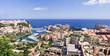 Vue panoramique sur la principauté de Monaco