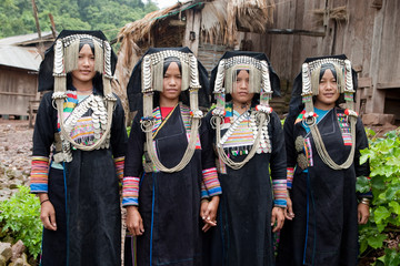 Akha Gruppe in Laos