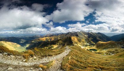 Stitched Panorama, Mountains
