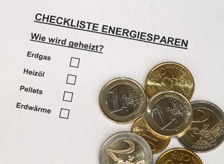 Checkliste Energiesparen IV