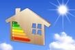 maison bois dpe sur ciel bleu et soleil v4