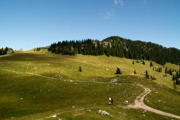 Wendelstein Gebirge Berg Bergkette Aufstieg Alpen Tal